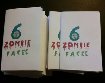 Zine - 6 Zombie Faces