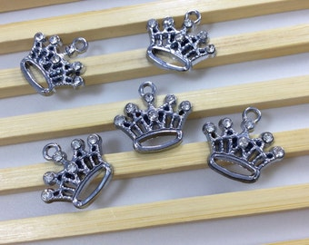 10 PCs   Rhinestone  Crown Pendants   Crown Charms   Crown Jewelry, Findings  c 2054