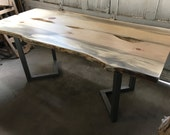 Live Edge Blued Pine Dining Table