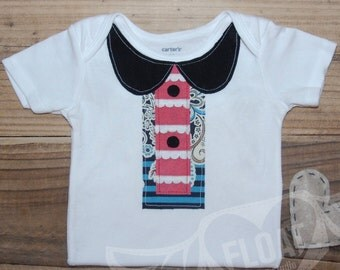 """FLOAT's Shabby Chic Collection..""""All American Girl"""" T-Shirt (or Bodysuit)"""
