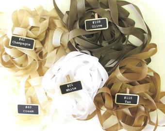 White Rayon Seam Binding Ribbon - 10 yards - 14 mm - 100% rayon - White 1