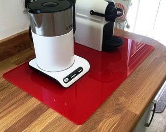 Rectangle Worktop Saver in Red Acrylic - 3 Sizes Available