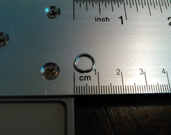 100 pcs. 1 cm Open jump rings steel handmade, handmade jump rings 1cm, .39 inch jump ring, steel jump ring, polished silver look jump ring