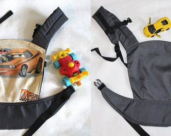 FREE SHIPPING Reversible Doll Carrier Cars/ soft structured/ by Bagy™ collection/ best gift for boys