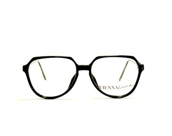 Vintage eyeglasses frame Viennaline mod. 1404 Pantos square nerd black optyl, Made in Austria NOS
