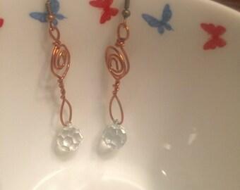 Drop earrings-look-a like glass drop earrings