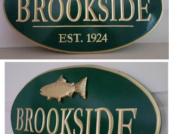 Personalized Oval House Signs