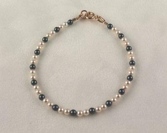 Swarovski Tahitian Creamrose Pearl Bracelet