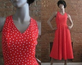 NY Fashion Week Sale 1970s Lanz red polka dot dress • size small • Annette