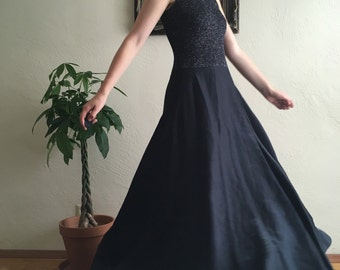 Shimmery Black Evening Dress