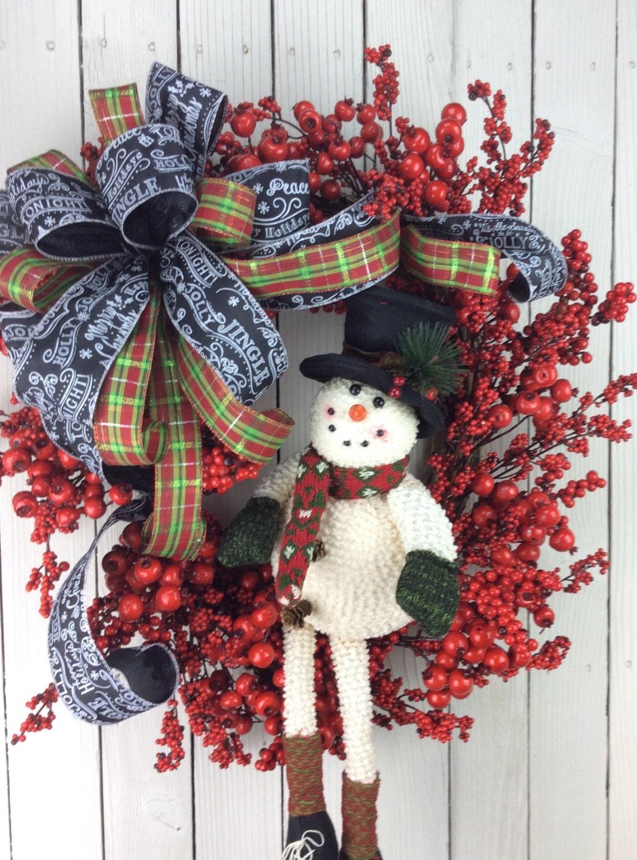 Snowman Wreath Snowman Christmas Wreath Christmas Snowman