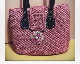 Vintage Crochet Rose