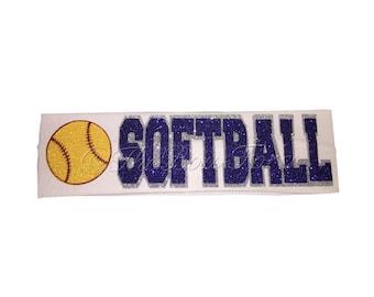 Glitter Headband Softball