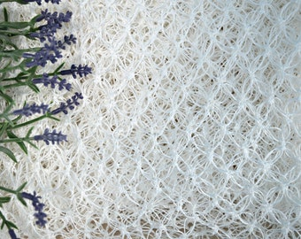 white crochet shawl lightweight for an elegant and festive look