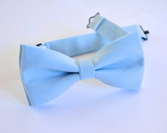 Bow Tie - baby Blue bow tie for Kids,cotton bow tie, boys bow tie,blue wedding bow tie ring bearer bow tie