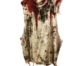 Blood Bath distressed sleeveless shirt by Chad Cherry