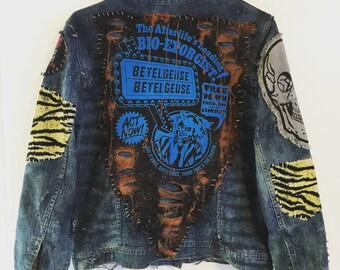 Bio-Exorcist 2 denim jacket by Chad Cherry