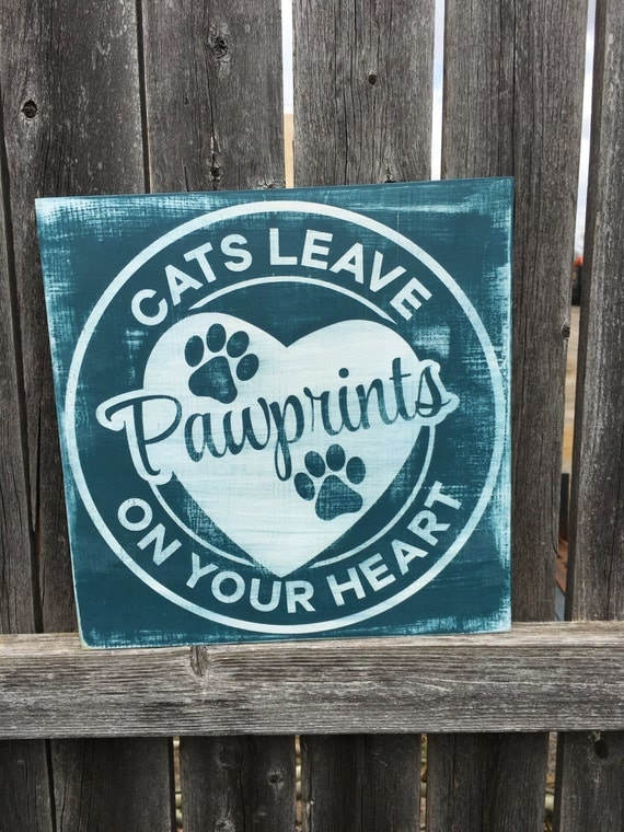 Cat Sign Home Decor Cat lover Handmade Wooden by