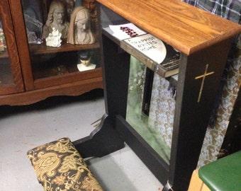 Refurbished Prie Dieux prayer kneeler : LOCAL PICKUP ONLY