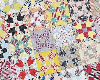 Gardenvale Stars By Jen Kingwell Modern Quilt Pattern Project 60 x 70