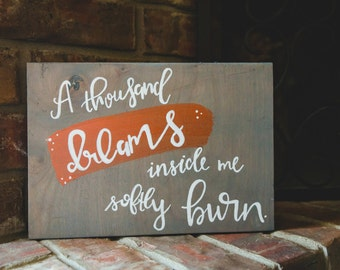 Dreamer Wood Sign 12x8