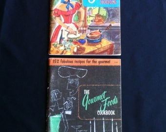 Two Staff Home Economists Culinary Arts Institute Cookbooks:  The French Cookbook And The Gourmet Foods Cookbook