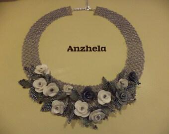 Flower Handmade Beadwork necklace