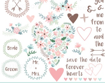 Hand Drawn Flowers Clip Art