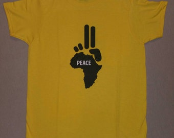 Kids Peace Africa T-Shirt (Short Sleeve) (Sizes 6,12,18, 24 mos, Youth XSmall-Large, Adult S-L)
