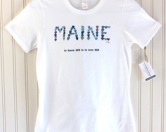 Maine t-shirt, Maine pride, Maine love, Maine clothing, love rocks pebble art, Maine gift, Maine souvenier