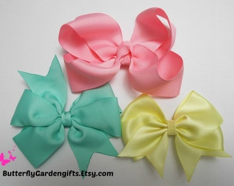 Mix and Match hair bow clip size large