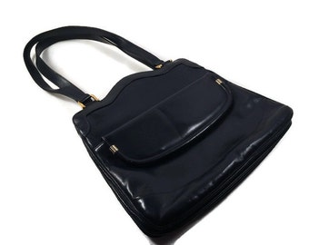 Vintage Lou Taylor Purse - Lou Taylor Blue Handbag