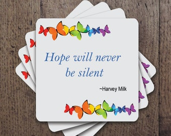 Hope will never be silent Coaster Set