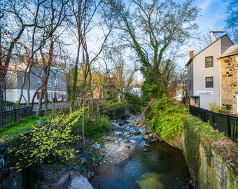 A small creek in Ellicott City, Maryland.   Photo Print, Stretched Canvas, or Metal Print.