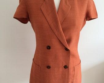 Jean Paul Gaultier Junior 1990's Linen blend Trouser Suit Size 6/8