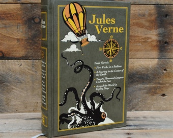 Hollow Book Safe - Jules Verne Collection - Leather Bound