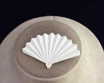 Vintage White Fan Pin