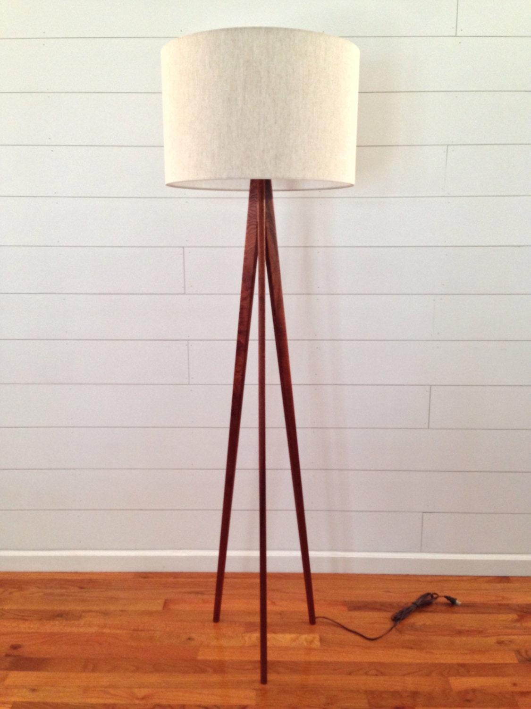 floor lamp tripod mahogany wood. Black Bedroom Furniture Sets. Home Design Ideas