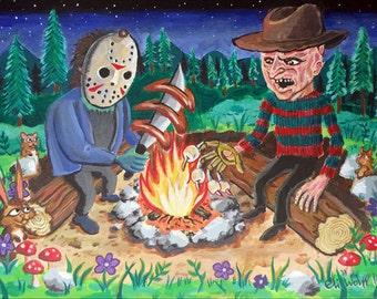 Creepy Cookout -- 8.5x11 Art Print