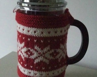Knitting Pattern for Nordic Cafetiere Cosy