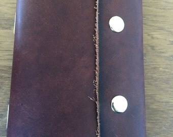 Small Brown Leather Journal wrap