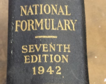 The National Formulary Seventh Edition 1942 Pharmacy Book with Prescription Recipe's Vintage and Ex Mint Best Offers!!