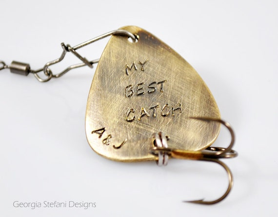 My best catch custom engraved fishing lure by dreamcityjewels for Engraved fishing lures