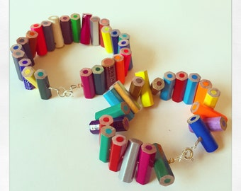 Upcycled Pencil Bracelet