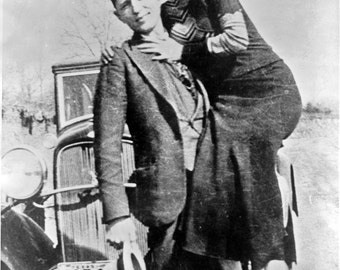 Bonnie and Clyde, Bonnie Parker, Clyde Barrow, 1930's  -Photo Print