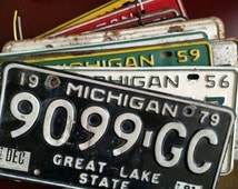 Vintage Michigan License Plate plates from  1950's 60's and 70's variety of colors and types! Car, Boat, Trailer, Commercial, etc.