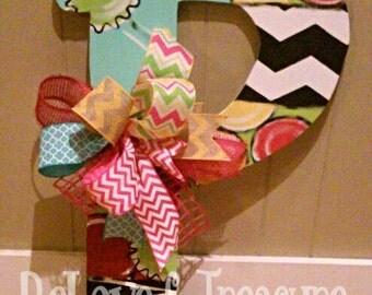 Monogram Letter Door Hanger by ReLoved Treasure, door decor, home decor, monogram