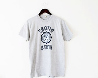 LARGE/XLARGE Vintage 1982 Erotic State Soft and Thin Graphic T-Shirt