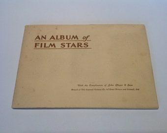 1934 1st Series Players Cigarette Card Album. Film Stars.