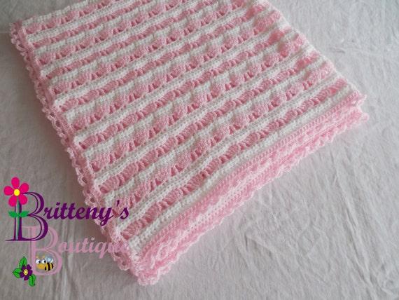 Crochet Patterns Baby Girl Blankets : Crochet Baby Blanket Pattern / Crochet Baby Girl Blanket